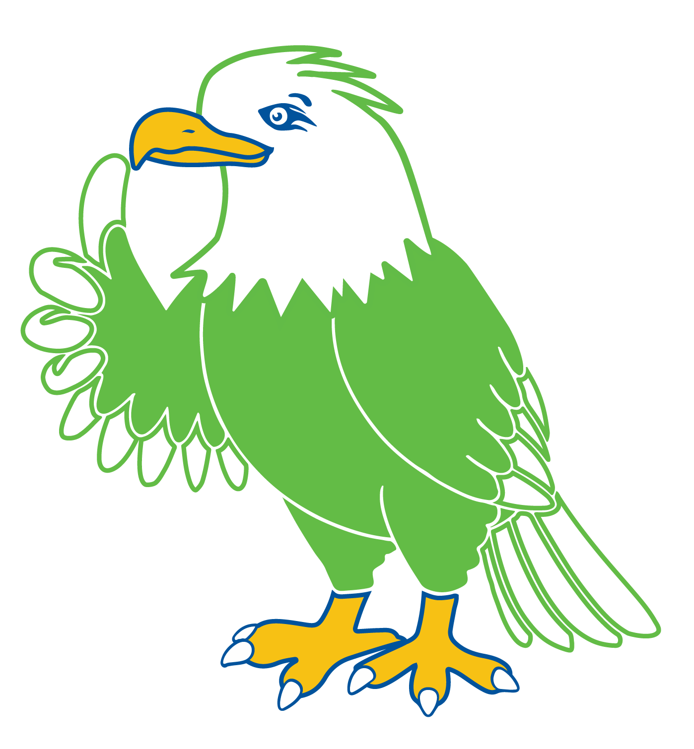 MESA eagle mascot giving thumbs up